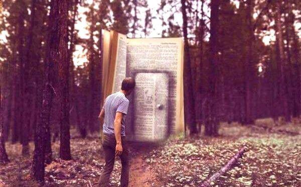 hombre-ante-la-puerta-de-un-libro-gigante